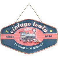 Otthon Képek, vásznak Signes Grimalt Vintage Train Fali Plakett Azul
