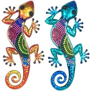 Otthon Szobrok, figurák Signes Grimalt Gyíkok Set 2 Egység Multicolor