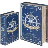Otthon Rekeszek és tárolók Signes Grimalt Kormánykönyv Dobozok Set 2U Azul