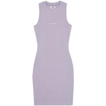 Ruhák Női Rövid ruhák Sixth June Robe femme  Rib Essential bleu lila