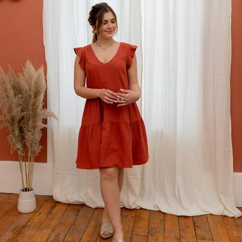 Ruhák Női Rövid ruhák Céleste DAHLIA Terrakotta