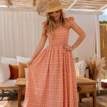Ruhák Női Hosszú ruhák Céleste AURORE Rózsaszín