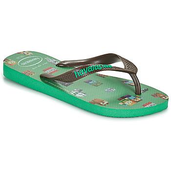 Cipők Fiú Lábujjközös papucsok Havaianas KIDS MINECRAFT Zöld