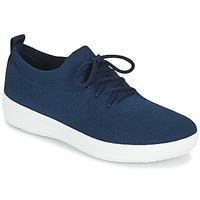 Cipők Női Rövid szárú edzőcipők FitFlop F-SPORTY UBERKNIT SNEAKERS Tengerész