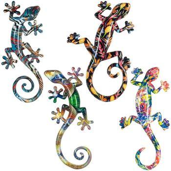 Otthon Szobrok, figurák Signes Grimalt Lagartos S Gyanta Szeptemberben 4U Multicolor