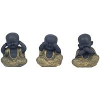 Otthon Szobrok, figurák Signes Grimalt Buddha Nem Habla / Ve / Oye Szeptemberben 3U Multicolor