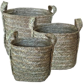 Otthon Kosarak és dobozok Signes Grimalt Kosarak Set 3 Egység Marrón