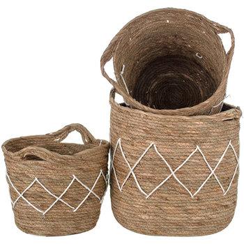 Otthon Kosarak és dobozok Signes Grimalt Set 3 Kosár Set 3 Egység Beige
