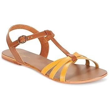 Cipők Női Szandálok / Saruk Betty London IXADOL Citromsárga / Teve