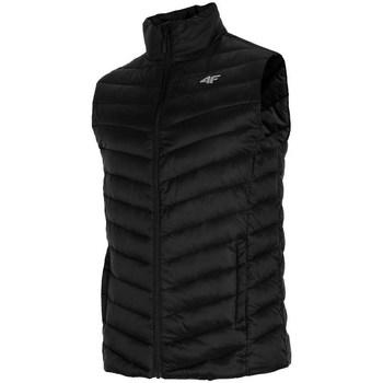 Ruhák Férfi Steppelt kabátok 4F KUMP001 Fekete