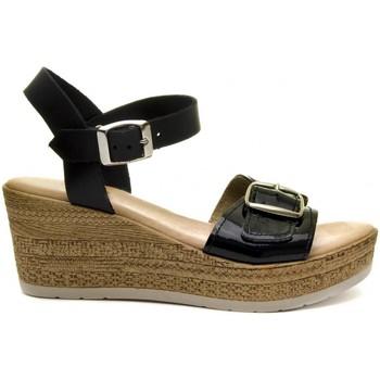 Cipők Női Szandálok / Saruk Purapiel 70161 BLACK
