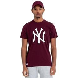 Ruhák Férfi Rövid ujjú pólók New-Era Team Logo New York Yankees Barna