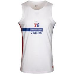 Ruhák Férfi Trikók / Ujjatlan pólók New-Era Nba Philadelphia 76ERS Fehér