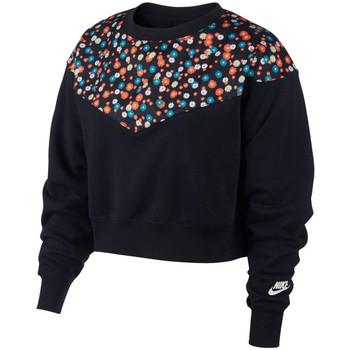 Ruhák Női Melegítő kabátok Nike Nsw Heritage Cropped Fekete
