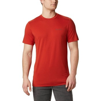 Ruhák Férfi Rövid ujjú pólók Columbia Maxtrail Logo Piros