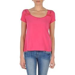 material Női Rövid ujjú pólók DDP NOWI Rózsaszín