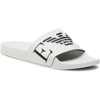 Cipők Férfi strandpapucsok Emporio Armani X4PS06 XM760 White black