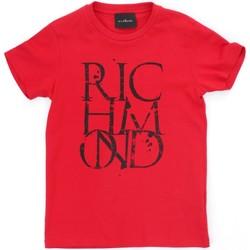 Ruhák Fiú Rövid ujjú pólók Richmond Kids RBP21038TS Red