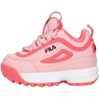Cipők Lány Rövid szárú edzőcipők Fila 1010826 Pink