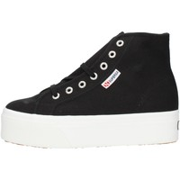 Cipők Női Magas szárú edzőcipők Superga 2705HITTOP Black