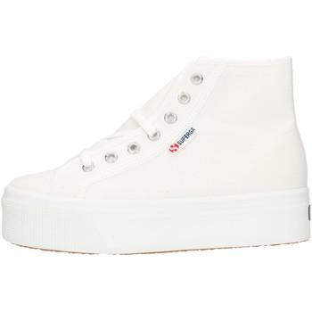 Cipők Női Magas szárú edzőcipők Superga 2705HITTOP White