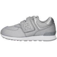 Cipők Lány Rövid szárú edzőcipők New Balance YV574KS SILVER