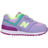 Cipők Lány Rövid szárú edzőcipők New Balance IV574BVM FUCHSIA