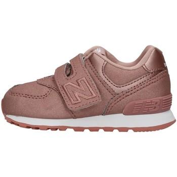 Cipők Lány Rövid szárú edzőcipők New Balance IV574KA GOLD