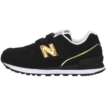 Cipők Lány Rövid szárú edzőcipők New Balance YV574MTK BLACK