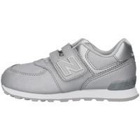 Cipők Lány Rövid szárú edzőcipők New Balance IV574KS SILVER