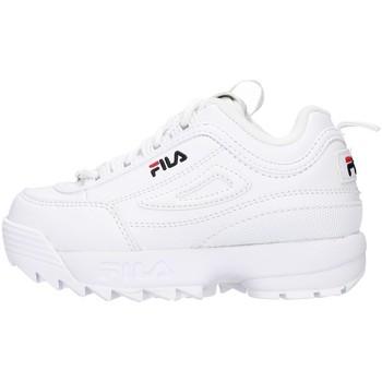 Cipők Lány Rövid szárú edzőcipők Fila 1010826 WHITE