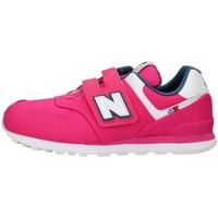 Cipők Lány Rövid szárú edzőcipők New Balance YV574SOE FUCHSIA