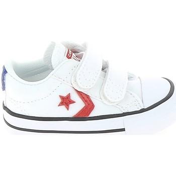 Cipők Gyerek Rövid szárú edzőcipők Converse Star Player 2V BB Blanc Rouge Fehér
