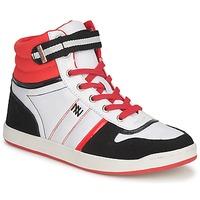 Cipők Női Magas szárú edzőcipők Dorotennis STREET LACETS Piros / Fehér / Fekete