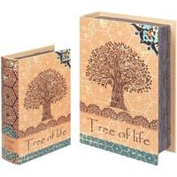 Otthon Kosarak és dobozok Signes Grimalt 2U Fa Élet Könyv Dobozok Naranja
