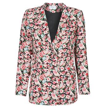 Ruhák Női Kabátok / Blézerek Betty London OBIMBA Fekete  / Rózsaszín