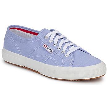 Shoes Rövid szárú edzőcipők Superga 2750 COTUSHIRT Kék / Tiszta