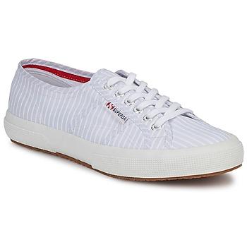 Shoes Rövid szárú edzőcipők Superga 2750 COTUSHIRT Fehér / Kék