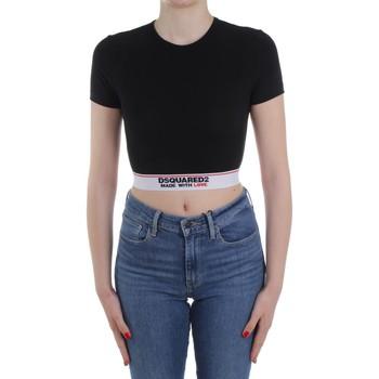 Ruhák Női Pulóverek Dsquared2 Underwear D8M263470 Black