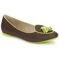 Cipők Női Mokkaszínek Etro BALLERINE 3738 Brown / Citron