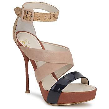 Cipők Női Szandálok / Saruk John Galliano AN6363 Rózsaszín / Tengerész / Bézs