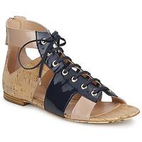 Cipők Női Szandálok / Saruk John Galliano AN6379 Kék / Bézs / Rózsaszín