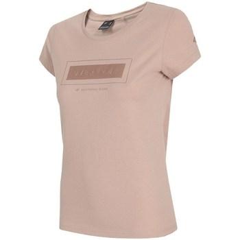Ruhák Női Rövid ujjú pólók 4F TSD034 Rózsaszín