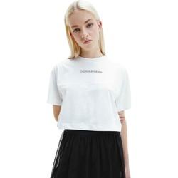 Ruhák Női Rövid ujjú pólók Calvin Klein Jeans J20J215313 Fehér