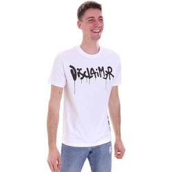 Ruhák Férfi Rövid ujjú pólók Disclaimer 21EDS50565 Fehér