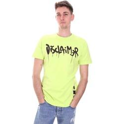 Ruhák Férfi Rövid ujjú pólók Disclaimer 21EDS50565 Zöld