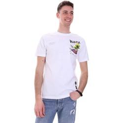 Ruhák Férfi Rövid ujjú pólók Disclaimer 21EDS50522 Fehér