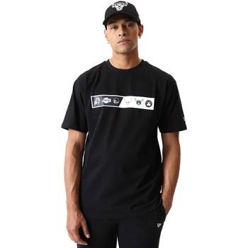 Ruhák Férfi Rövid ujjú pólók New-Era 12553333 Fekete
