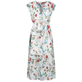 Ruhák Női Hosszú ruhák Moony Mood  Fehér / Sokszínű