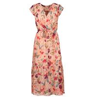 Ruhák Női Hosszú ruhák Moony Mood  Rózsaszín / Sokszínű